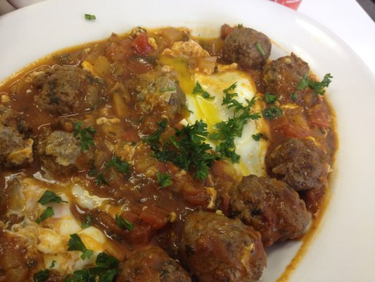 Kefta Tajine with a runny egg